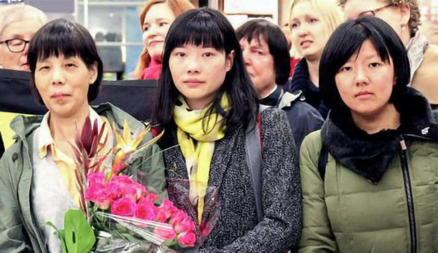 Chen Zhenping pictured with her daughter in Finland on Oct. 9 2015.